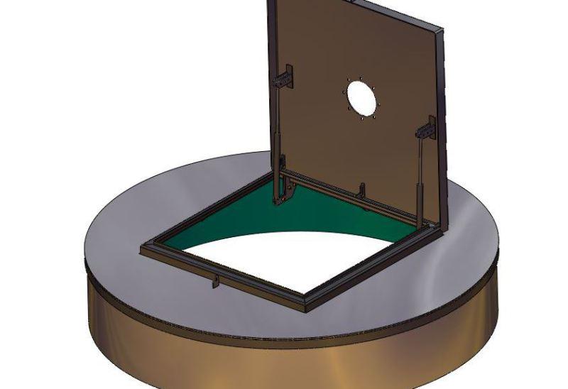 Grubenabdeckung im CAD konstruiert