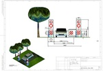 3D Verkehrseinengung CAD